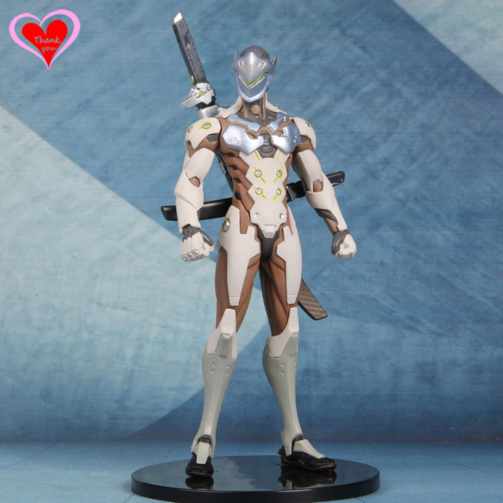 Love Thank You OW Over game watch Overwatches Genji 25cm pvc figure toy Collectibles Model gift doll new patterns game genji ow metal weapons zinc alloy exquisite darts rotatable ninjia professional cosplay props kids gift in box