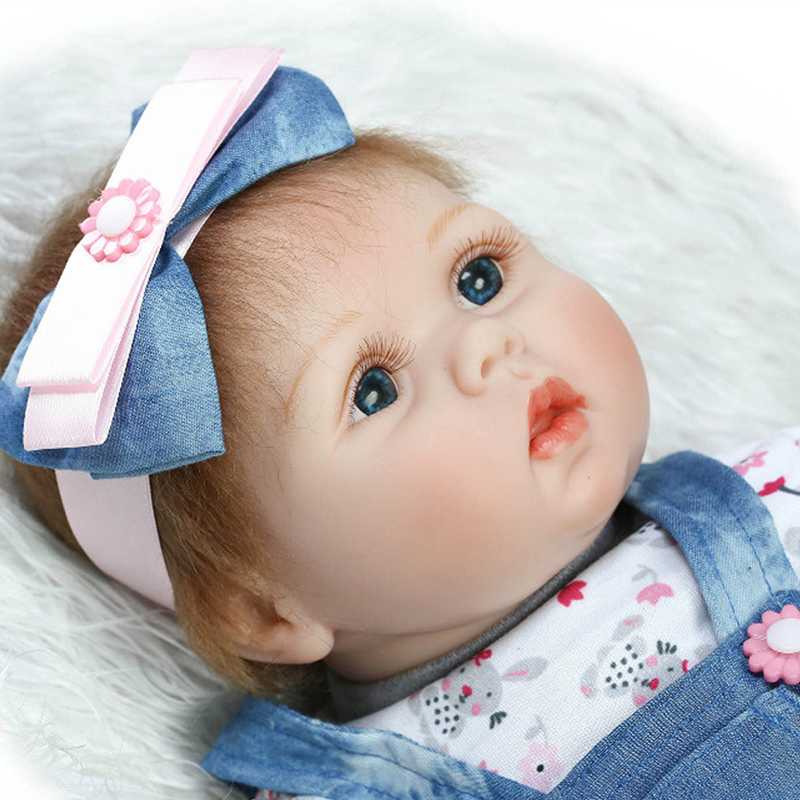 22inch 55cm Real Gentle Touch Vinyl Silicone Reborn Dolls Lifelike Baby New Fashion Doll For Children Playmate Gifts22inch 55cm Real Gentle Touch Vinyl Silicone Reborn Dolls Lifelike Baby New Fashion Doll For Children Playmate Gifts