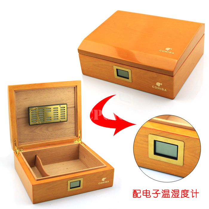 free shipping cohiba wooden cigar humidor office cigar box. Black Bedroom Furniture Sets. Home Design Ideas