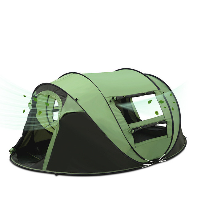 3-4 Person 200*280*120cm Travel Hiking Tents Waterproof Windproof Instant Automatic Tents Pop up Beach Tent Large Camping Tents
