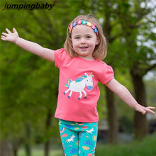 Jumpingbaby 2019 UnicornT-shirt Girls Tops T shirt Camiseta Summer Top Roupa Menina Koszulka Kids Tshirt Clothes Koszulki Ne