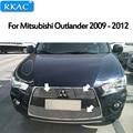 RKAC Für Mitsubishi Outlander 2009 2012 Hohe qualität Aluminium legierung Vorderen Grill Um Trim Racing Grills Auto styling-in Rennauto-Kühlergrill aus Kraftfahrzeuge und Motorräder bei