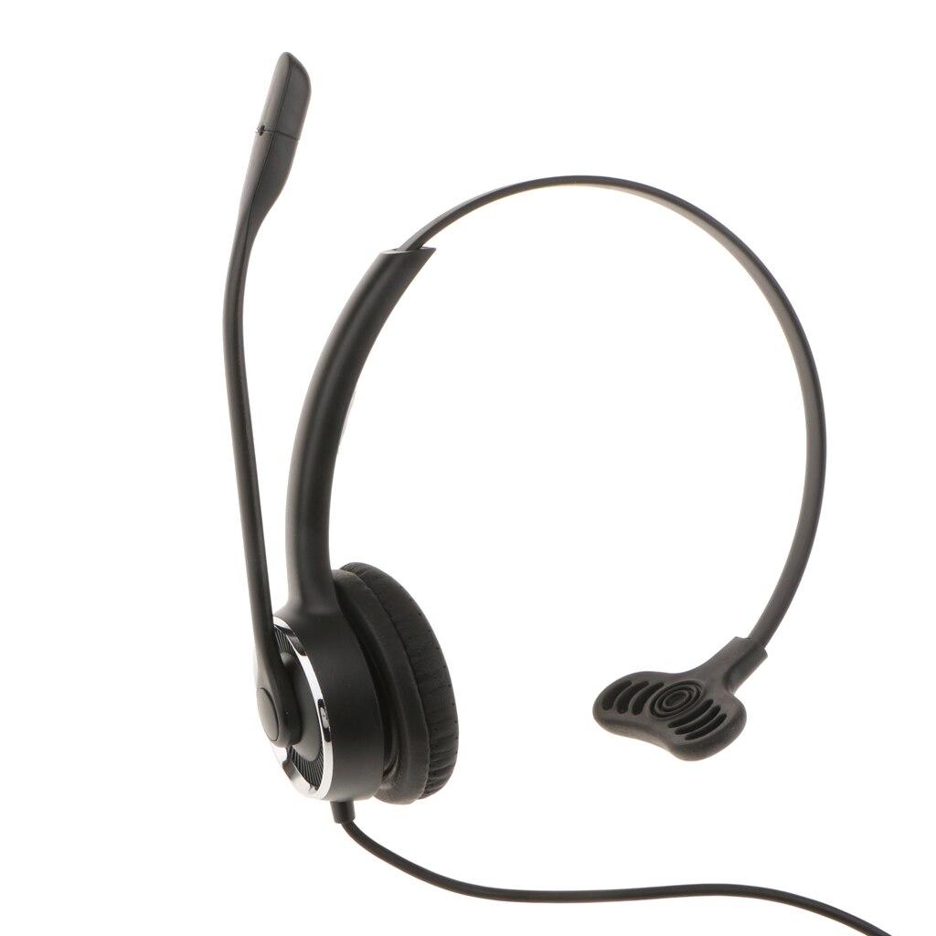 QD-RJ9 Call Center Corded Headset Noise Cancelling For Landline Phones