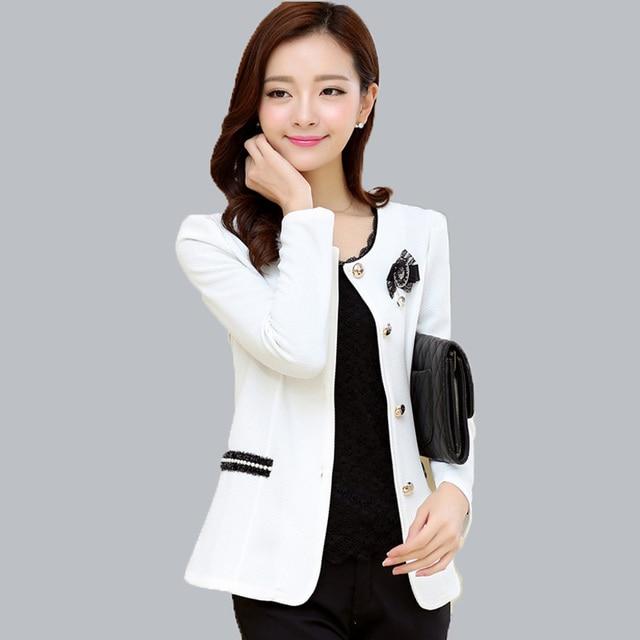 056ca43198c 2016 New blazer women corsage plus size formal blazer jackets for woman  work wear coat jaqueta