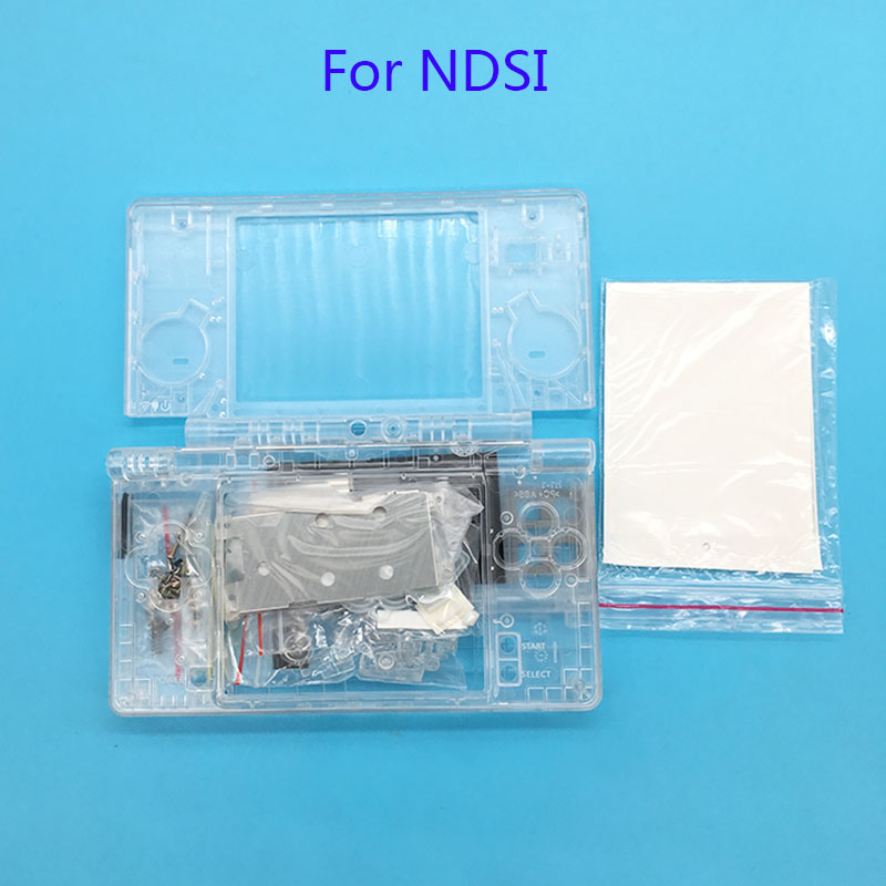 For Nintendo DSi Replacement Full Housing Cover Case With Buttons Replacement For NDSi Clear Shell Housing