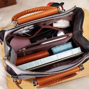 Image 5 - Brand Medium Large Capacity Ladies Totes Zipper Bear Strap Thread Shopping Office Women Crossbody Shoulder Bag Handbags