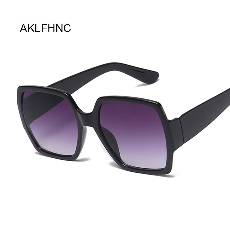 2019 Newest Oversized Square Sunglasses Women Luxury Brand Designer Red Green Sun Glasses Female Vintage Shades Eyewear