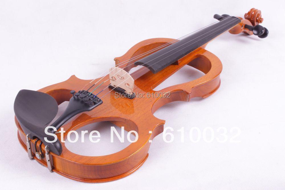 4/4 Electric Violin Solid wood 4 --1# silvery orange    color  5   string 4 4 electric violin solid wood 6 21 silvery brown color 4 string