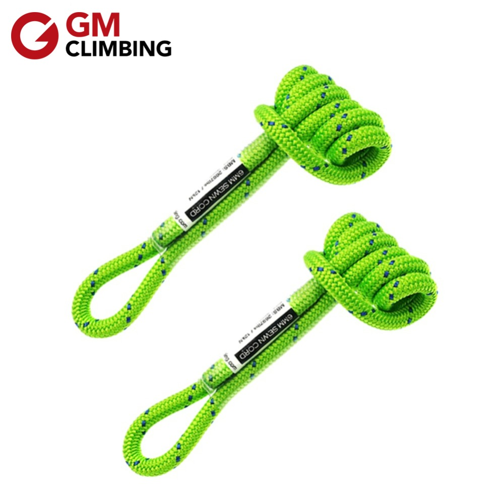GM CLIMBING Equipment 12in Prusik Cord Polyester Tree Rock Climbing Rope 6mm For Belaying Mountaineering Caving Rescue