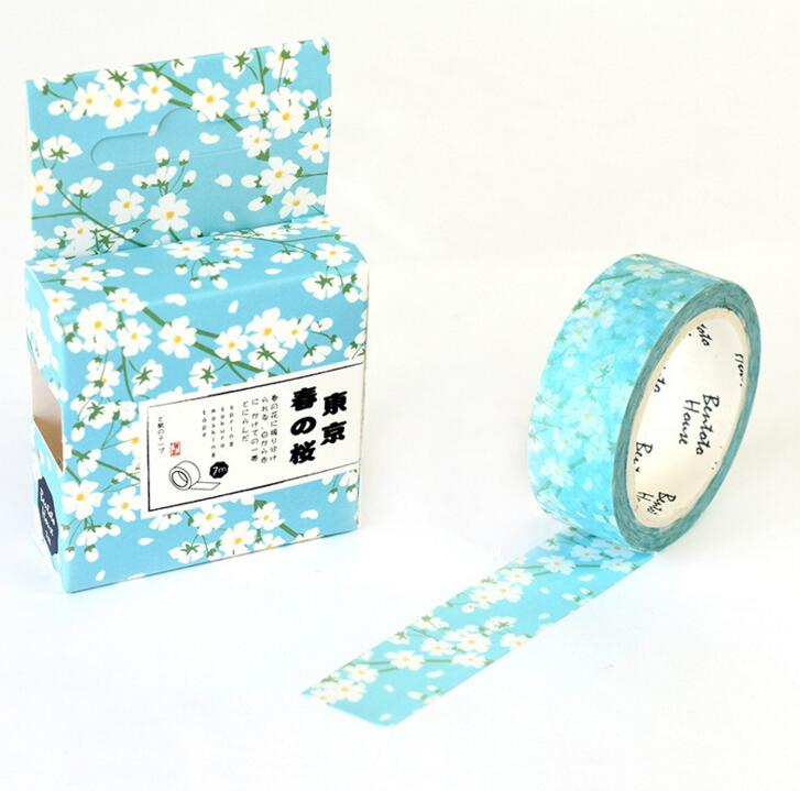 JB219  The Tokyo Spring Flowers Animals Decorative Washi Tape DIY Scrapbooking Masking Tape School Office Supply