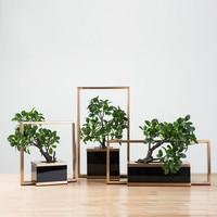 Creative Metal Flower Decoration Hotel Soft Decoration Living Room Decorative Vase