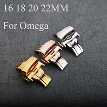 16mm18mm 20mm 22mm Butterfly Double Clasp Steel, 316 Stainless Steel Watch Buckle Folding Clasp For Omeg With Original Logo