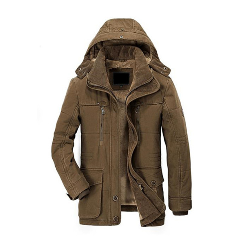 2018 Men Winter Jacket Brand Famous Hot Thick High Quality Coats Cotton Padded Fashion Business Elegant Multi Pocket