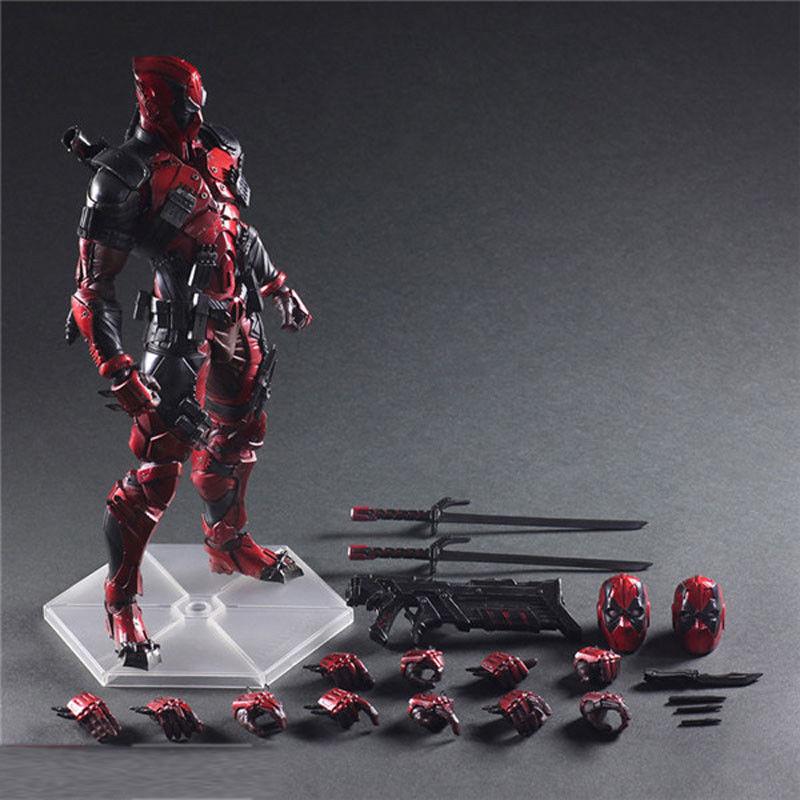 Play Arts Kai Deadpool Action Figure Model Doll New Marvel PVC 10