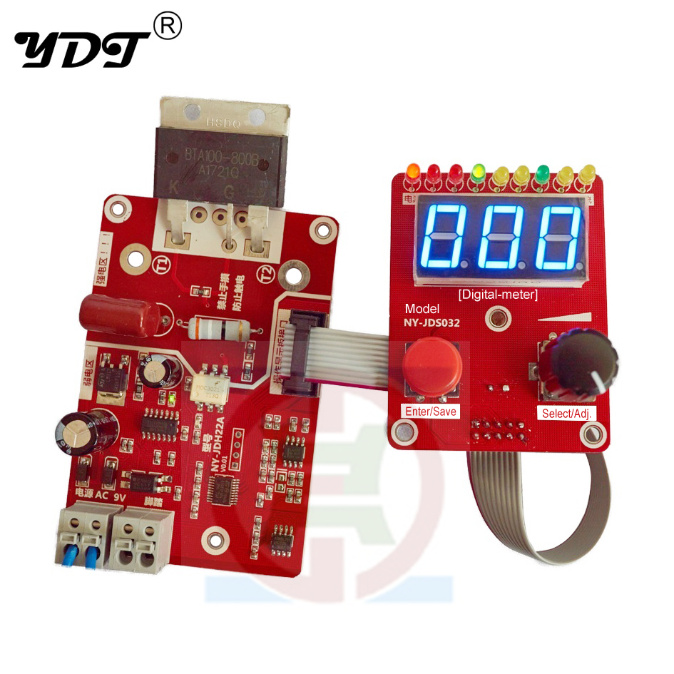 Double Pulse Encoder Spot Welding Current Time Control Panel Mcu Controlled Welder Board Precision Transformer Controller