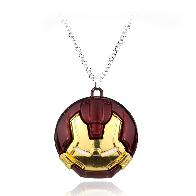 DC Comic <font><b>Marvel</b></font> <font><b>Avengers</b></font> 2 Age of <font><b>Ultron</b></font> <font><b>Iron</b></font> <font><b>Man</b></font> vs Hulk 3 color Metal robot logo Pendant necklace for <font><b>man</b></font> women gift souvenirs