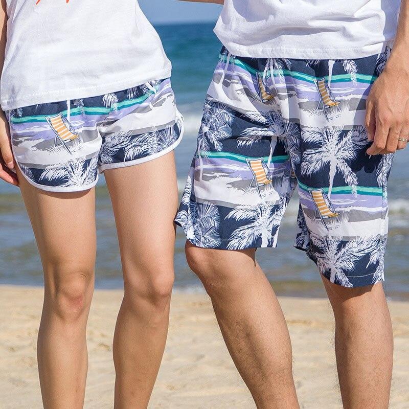 Couple   Shorts   Summer Hawaii   Board     Shorts   2018 Fashion Lovers Beach Men women BoardShorts Bermudas Vacation Swimshorts Plus Size