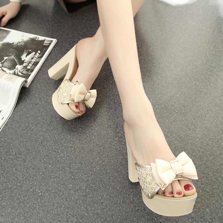 High Heel Flip Flops Sandals