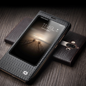 Image 5 - QIALINO Case for Huawei Ascend Mate 9 Luxury Genuine Leather Flip Cover for Huawei Mate9 Sleep Wake Function Smart Case for mt9