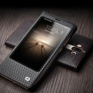 Image 5 - QIALINO étui pour Huawei Ascend Mate 9 luxe en cuir véritable couverture à rabat pour Huawei Mate9 sommeil fonction réveil étui intelligent pour mt9