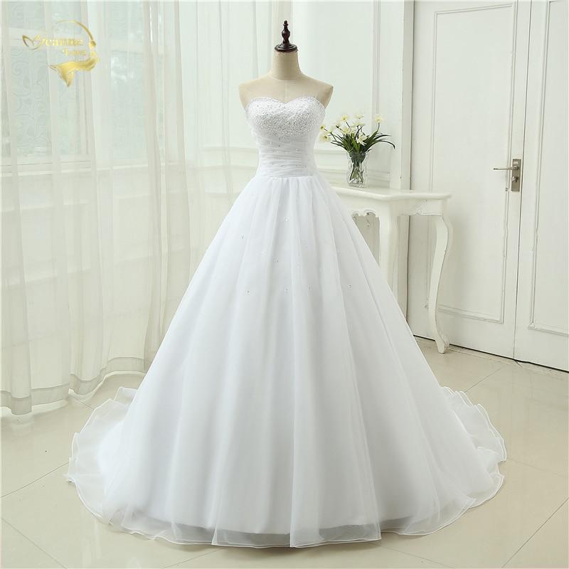 Nykomst Billiga Vestido De Noiva En Line Sweetheart Organza Robe De Mariage Gown Vintage Plus Storlek Bröllopsklänningar 2019 OW 2039