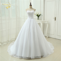 Cheap Price 2014 New Free Shipping A Line Sweetheart Beading White Ivory Wedding Dresses OW 2039