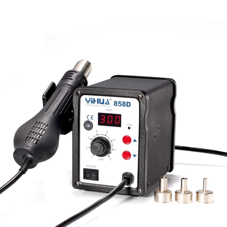 YIHUA-858D Digital hot air welding Rework station Hot air gun Heat gun 220V кaреткa toyota ks 858