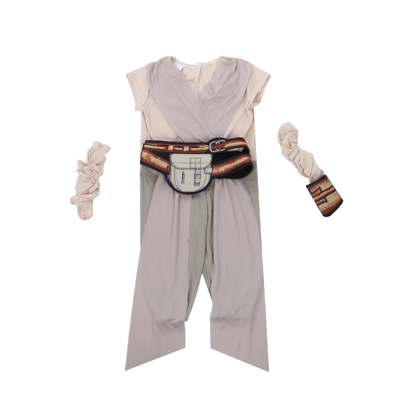 Child Rey Star Wars Costume 2017 New The Force Awims Fancy Girls - Carnavalskostuums - Foto 2