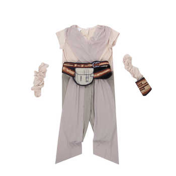 Child Classic The Force Awakens Star Wars Rey Costume Girls Fancy-Dress Movie Character Carnival Cosplay Halloween Costumes