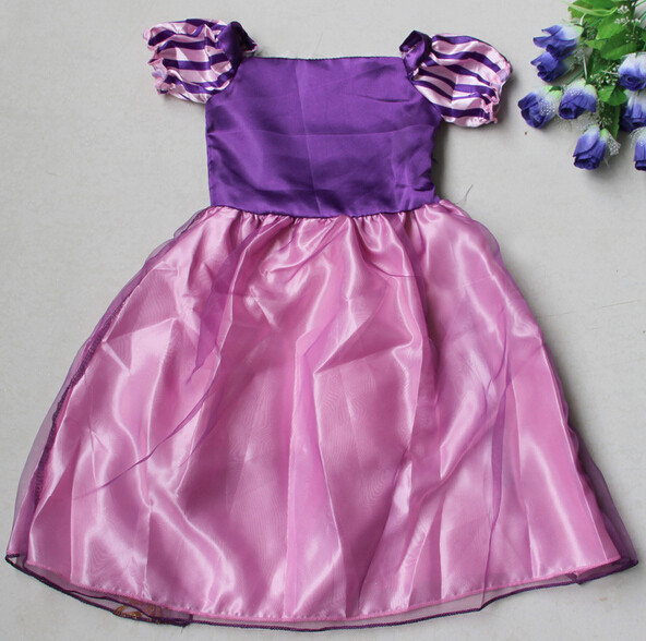 DB23655 Children Girl princess sofia dress-8