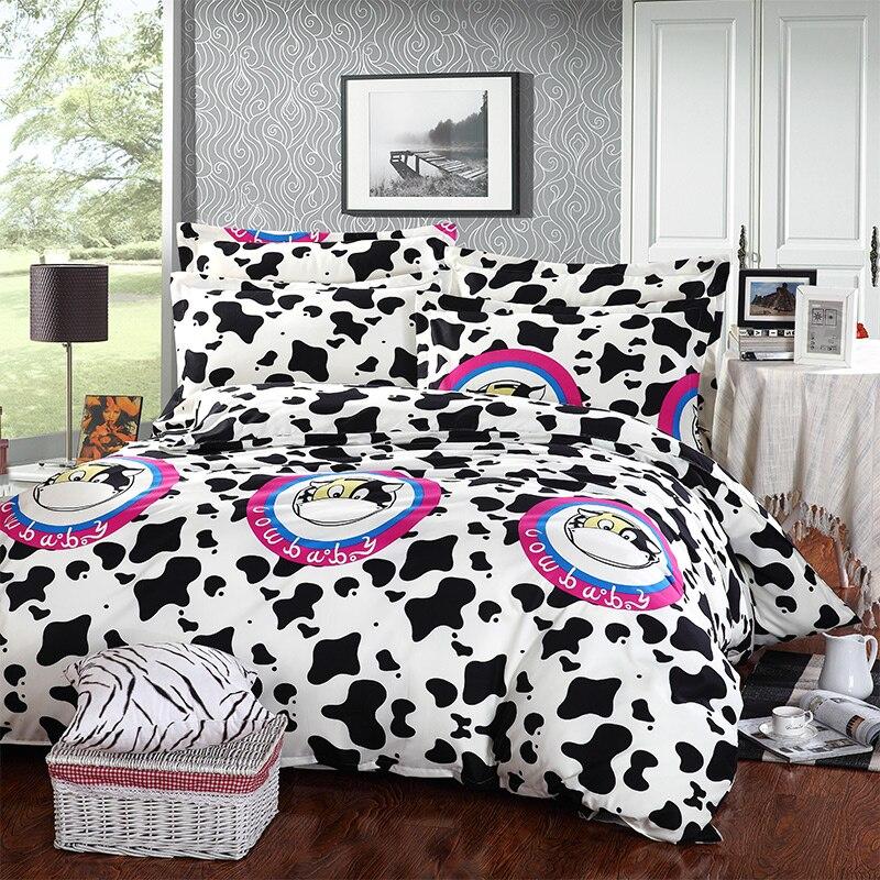 linge de lit vache 100% Coton Literie Ensemble Vaches linge de Lit housse de couette  linge de lit vache