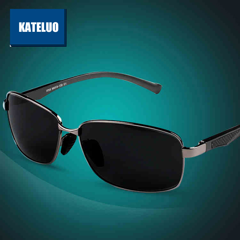 47cb886acf KATELUO Brand Polarized Men s Vintage Sunglasses Aluminum Frame Sun Glasses  Men Goggle Eyewear Accessories For Men