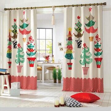 2016 Feliz Navidad Preciosas Cortinas de rboles de Navidad