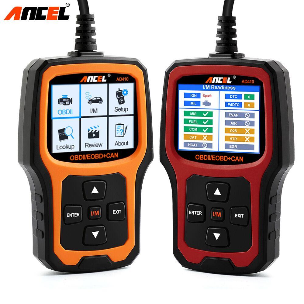 Original ANCEL Car Diagnostic Detector OBD 2 Automotive Scanner AD410 OBD2 Code Reader Scanner Batter ELM327