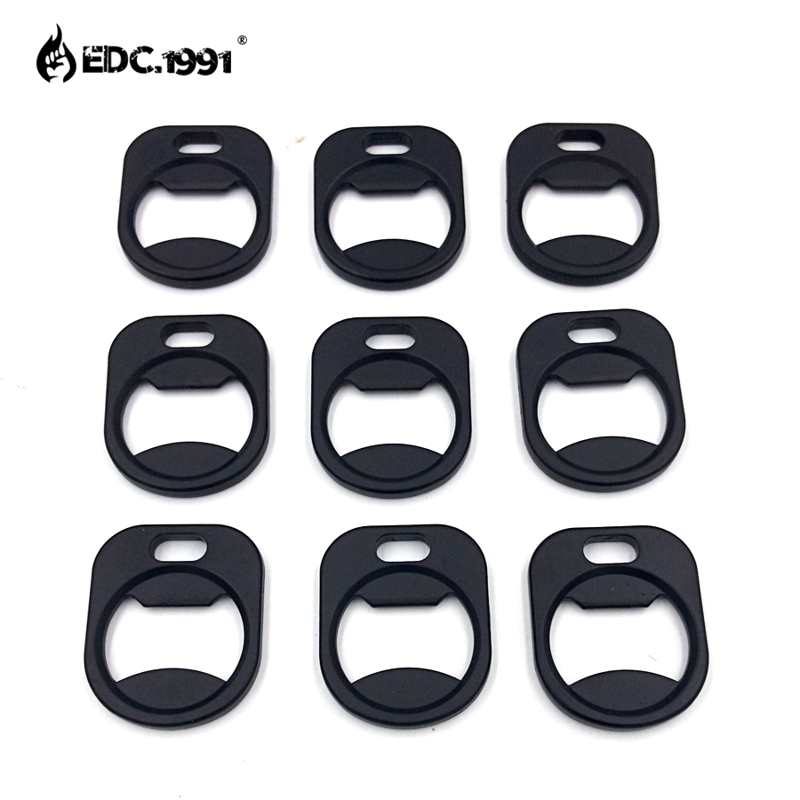 EDC.1991 High quality Paracord Bottle Opener fitting Stainless Steel EDC GEAR Pocket Multi Tool Outdoor Travel Kit 9PCS/ LOT