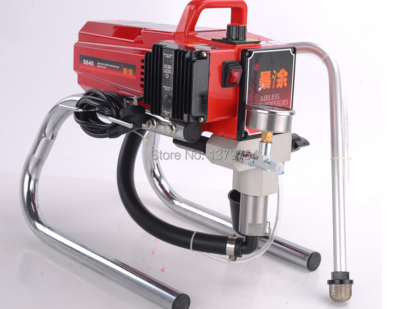 Professional Airless Spray Gun electric Paint Sprayer XKX640 Machine with 50cm extend pole 519/521 Nozzle Tips factory directly