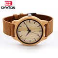 Watches Wooden Women Men Vintage Leather Quartz Wristwatch Bamboo Color DressWatch Light Weight Clock New Luxury Wood Wristwatch