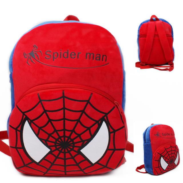 Grande homem aranha bebê mochila shool sacos crianças mochila de pelúcia lovely design mini sacos de brinquedo para o aniversário da criança presente de Natal