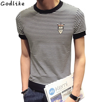 New 2018 Summer Tops Tee Fashion The Latest Fashion Trend Youth Style Young Men S Striped
