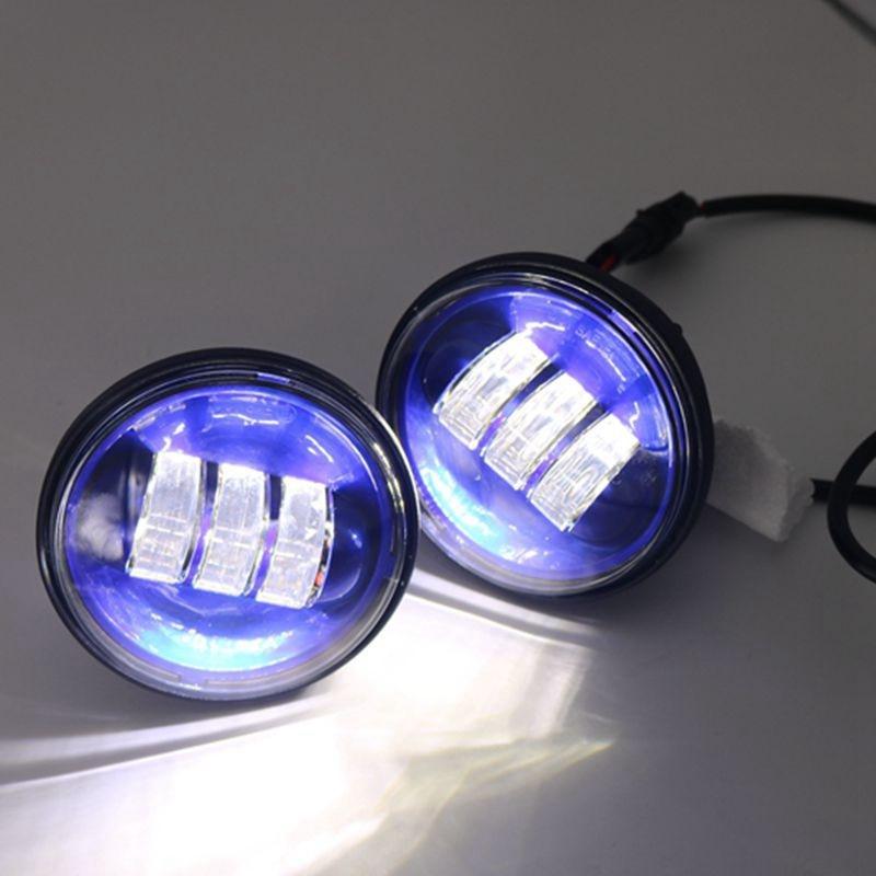 Blue 4 1 2 Quot 4 5inch Led Passing Light For Harley Davidson