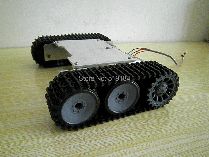 ROT-1 New tracked vehicle chassis metal buggy robot tanks video show цены онлайн