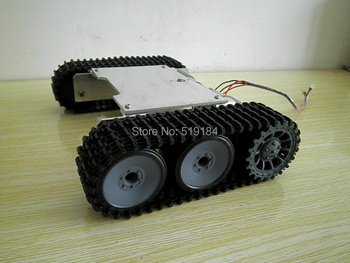 ROT-1 New tracked vehicle chassis metal buggy robot tanks video show