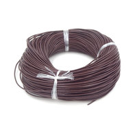 Real Oxhide Genuine Leather Cord Coffee Color Jewelry Materials Cordao For Necklace Bracelet Making 2.0 Round 100 Yards D0387