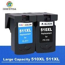 Obestda PG510 CL511 Совместимый картридж для принтера Canon PG 510 CL 511 для Canon Pixma IP2700 MP240 MP250 MP260 MP270 MP280 MP480 принтер
