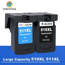 Obestda PG510 CL511 Compatible ink cartridge Canon PG 510 CL 511 for Pixma IP2700 MP240 MP250 MP260 MP270 MP280 MP480 printer
