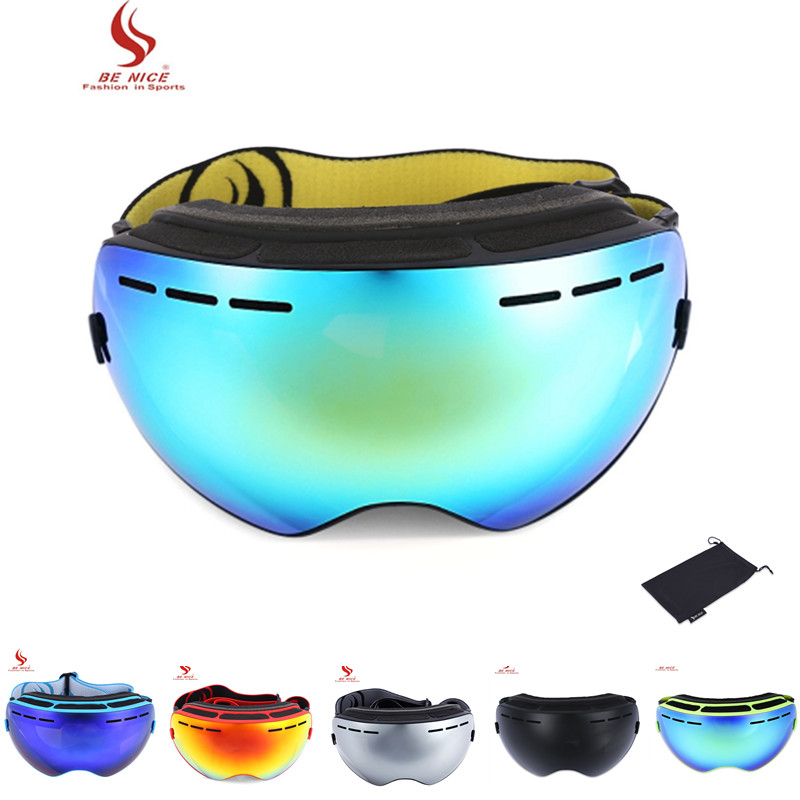 Be Nice Double Lens Uv400 Anti-fog Big Spherical Skiing Glasses Snow Goggles Skiing Eyewear Snowboarding Goggle Ski Sports At All Costs Sports & Entertainment