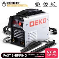Máquina de soldadura eléctrica de arco inversor IGBT serie DEKO DKA soldadora de 220V MMA para soldadura y trabajo eléctrico