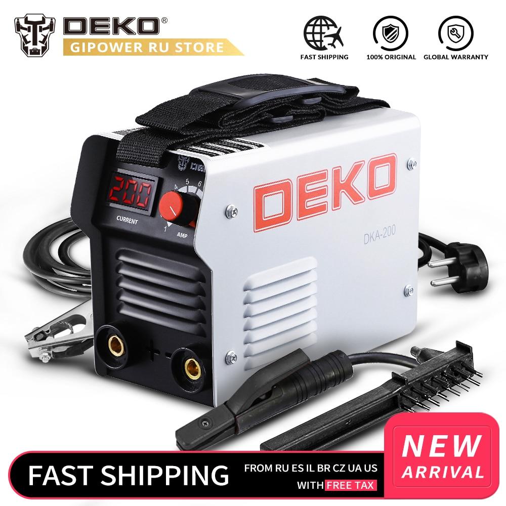Soudeuse électrique 220V MMA de Machine de soudure d'arc d'inverseur de la série IGBT de DEKO DKA pour le travail de soudure et le travail électrique