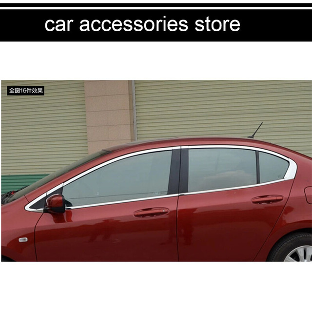 Good Free Shipping Car Window Chrome Trim Decoration Car Styling For Honda City  5th Generation 2008 2009