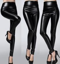 new 2016 Slim PU high waist leather pants, women fashion trousers boots pants winter plus thick velvet leggings 24 Color